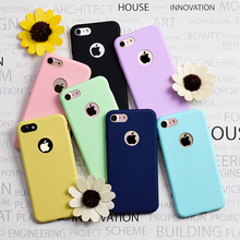 For iPhone 6 Plus / 6S Plus 7 Plus 5s Case Candy Color Silicone TPU Gel Soft Case Cover Rubber Back Cover Shockproof Phone Cases все цены