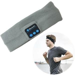 Image 2 - Aimitek Bluetooth Hoofdtelefoon Draadloze Hoofdband Sport Headsets Yoga handsfree Oortelefoon Zachte Warme Hoed Smart Cap met Microfoon