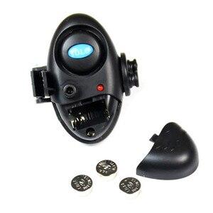 Image 2 - חדש דיג אלקטרוני אור LED דגי Bite קליפ פעמון אזעקת סאונד על חכת דיג שחור להתמודד עם דיג כלי אספקה