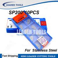 Sp200 pc9030 * 10ピース別れオフ超硬インサート、別れブロックオフプレート用spb見切り刃、に適しステンレス鋼