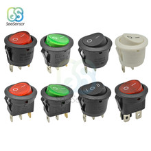 2 Pcs/20 Mm Mini Round Rocker Switch Plastic Push Button Switch 6A 250VAC 10A 125VAC On-Off Di -OFF-On 2Pin 3Pin(China)