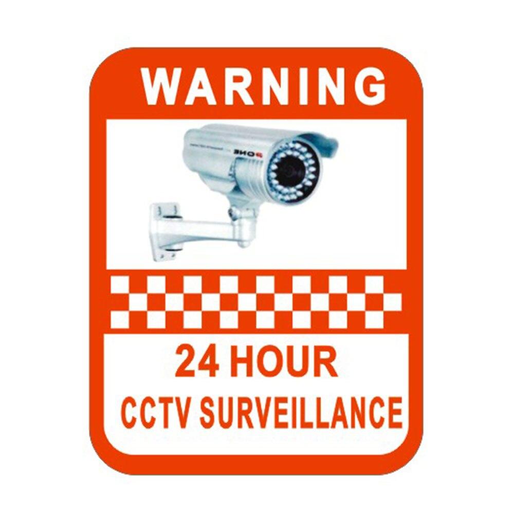 2 шт. наблюдения Предупреждение Стикеры мониторинга Предупреждение знак безопасности Предупреждение этикетки видео Камера сигнализации С... ...