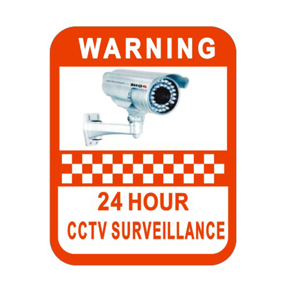 2Pcs Surveillance Warning Sticker Monitoring Warning Sign Security Warning Labels Video Camera Alarm Sticker Mark