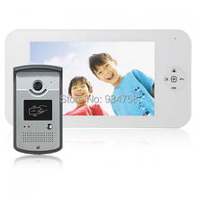 1V1 7 Inch TFT Digital Color LCD Monitor 1/3 CMOS Night Vision Camera Door Phone System