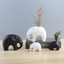 1pcs Cartoon Elephant Flower Pots Succulent Plant Flowerpot Ceramic Bonsai Garden Planter pots Home Office Decor New