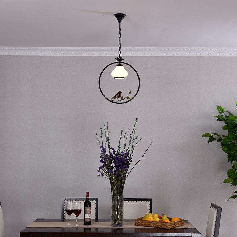 Huiteman Zwart Hanglampen Indoor Balkon Loft Glas Home Opknoping ...