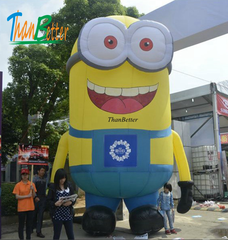 custom size Hot sale cartoon big Mall cute inflatable Minions