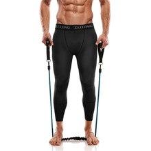 Gotoly Body Shaper мужское компрессионное трико корректирующая одежда пот брюки 3/4 леггинсы для тренировок быстросохнущие брюки талия тренажер