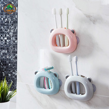 MSJO ToothBrush Stand Wall Holder Kids Suction Single Makeup Brush Toothbrush Shaver Bathroom Accessories Decor Storage