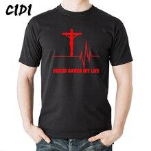 Christian T Shirt  Jesus Saved My Life