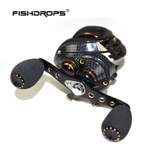 FISHDROPS LB200 Baitcasting Reel 18 Ball Bearings Carp Fishing Bass Fishing Left Handed Right Hand Bait Casting