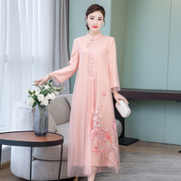 2019 summer woman chiffon aodai vietnam traditional clothing ao dai vietnam set women dresses improved cheongsa