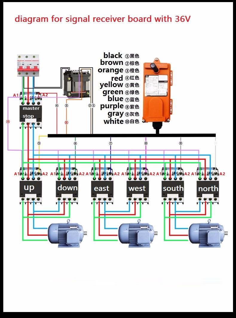 Buy F21 E1b 200m 36v 380v Industrial Wireless Overhead Crane Wiring Diagram Trolleymotorandoverheadcranewiring Remote Control For Electric Lifting Hoist Trolley Gantry Jibusd 6234 Piece