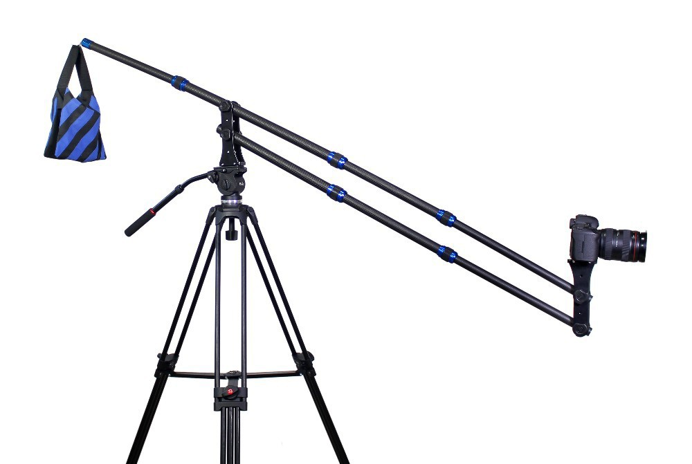 Mini Carbon Fiber jib crane Portable Pro DSLR Video Camera Crane Jib Arm Standard Version Bag