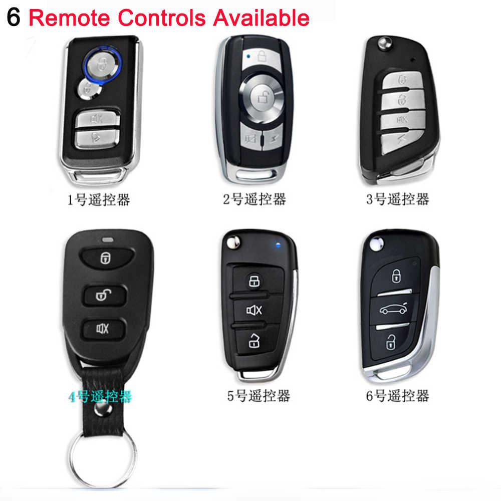 OkeyTech para coche SUV sistema de alarma de arranque de motor de entrada sin llave, botón de arranque remoto, parada automática, accesorios de alarma de coche con 2 teclas