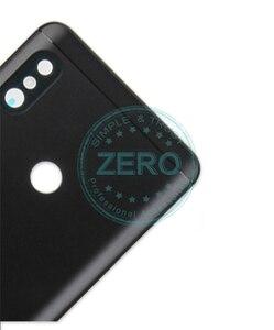 Image 3 - Oryginalny dla Xiao mi czerwony mi 6 Pro tylna pokrywa baterii Metal + karty Sim taca tylna obudowa mi A2 lite baterii przypadku drzwi części zamienne