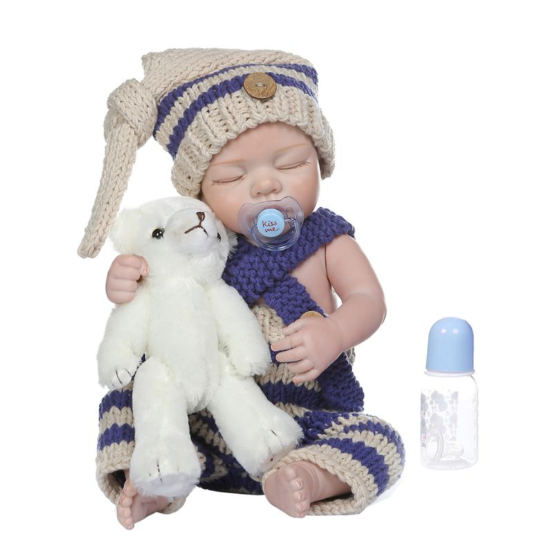 48cm Realistic Reborn Doll Soft Full Silicone Vinyl Newborn Babies Boy Girl Bear Lifelike Handmade Toy Children Birthday Gifts48cm Realistic Reborn Doll Soft Full Silicone Vinyl Newborn Babies Boy Girl Bear Lifelike Handmade Toy Children Birthday Gifts