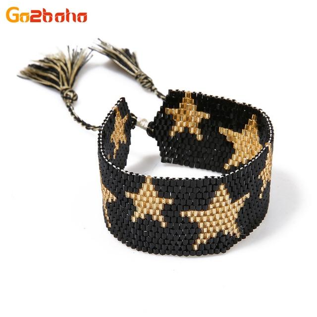 Go2boho estrellas de oro MIYUKI semilla cuentas brazalete pulsera ...