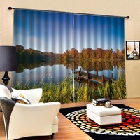 3D Curtain Luxury Blackout Window Curtain Living Room Landscape scenery curtains