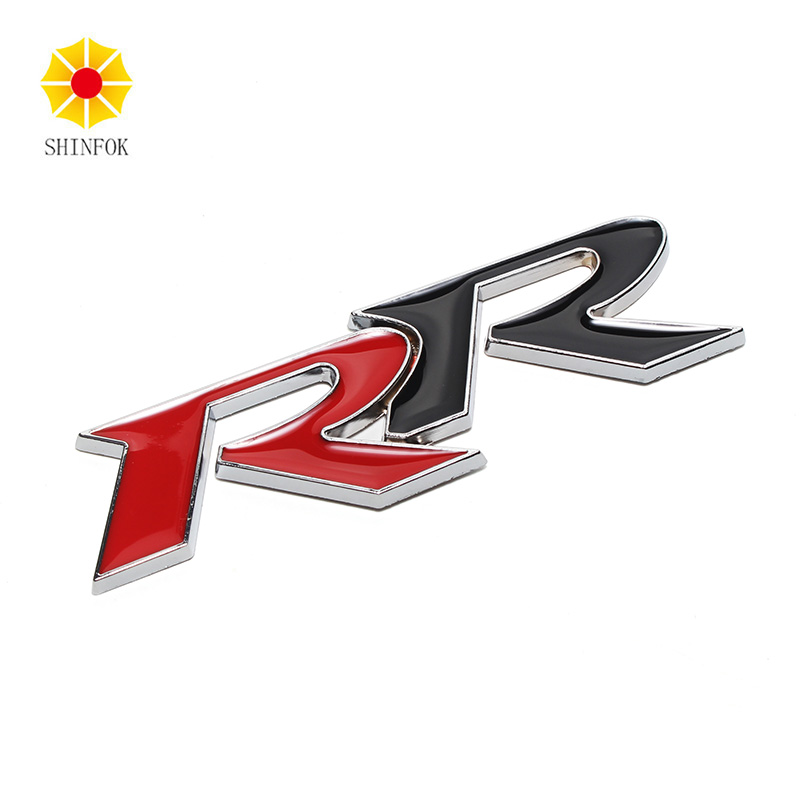 Car Styling Black RR Logo Emblem Front Head Grille Badge Mark Sport Car Sticker metal red blue st front grille sticker car head grill emblem badge chrome sticker for ford fiesta focus mondeo auto car styling