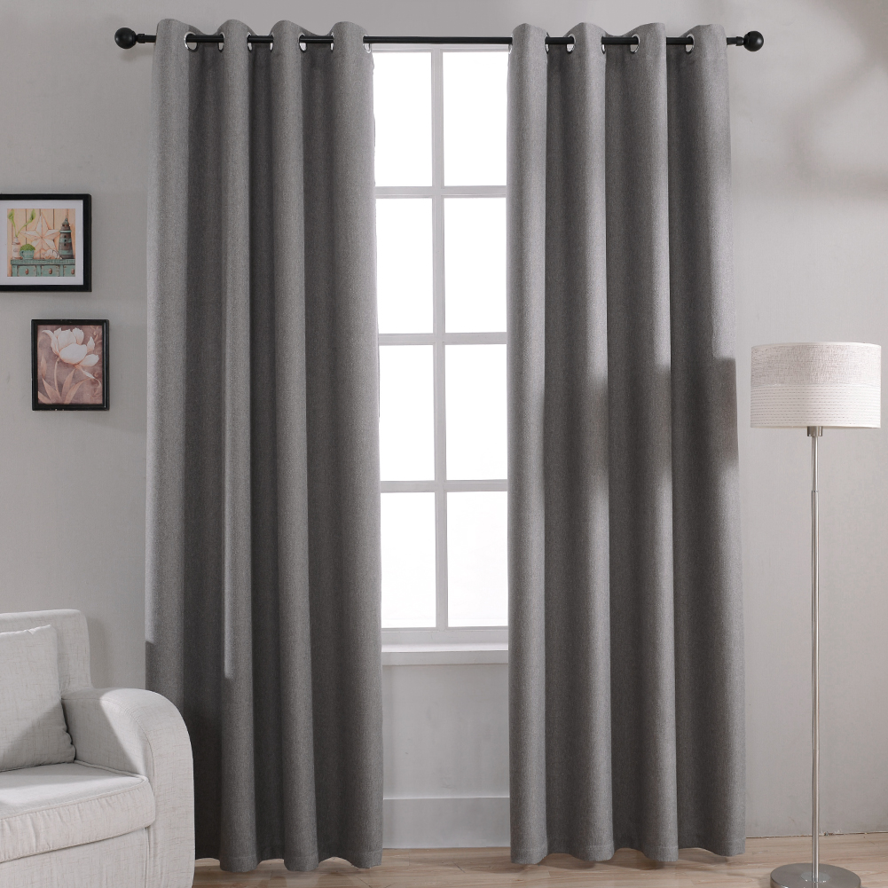 Modern solid blackout curtains for bed room living room for Curtains in a living room