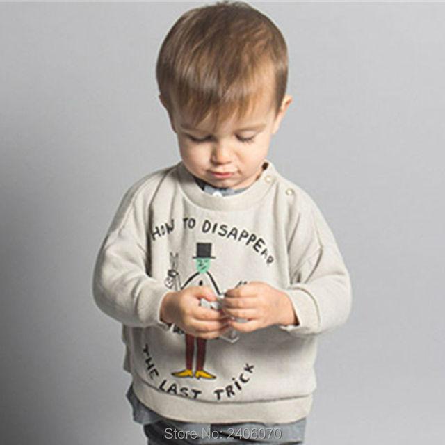 Bobo choses Suéter Del Bebé Del invierno de Ropa infantil Para Niños de los bebés Camisetas Niños Mago Impreso de manga larga marca Tes de Las Tapas
