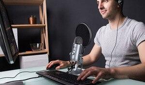 Image 4 - Microfono Pop Filter Scoppio di Rete Parabrezza Registrazione Antivento Microfono per il Blu, Yeti, Yeti Pro Copertura Della Staffa A Sbalzo