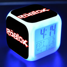 Roblox Game Figure Clock LED Colorful Flash Touch Light Desk Watch Toys(China)