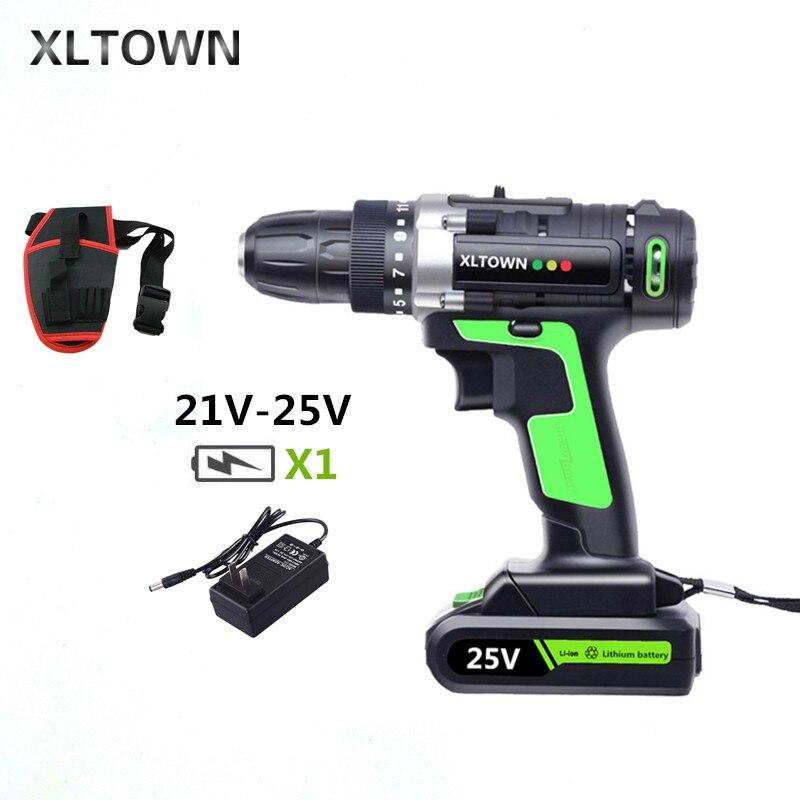 XLTOWN 25 V tournevis électrique multifonction rechargeable perceuse électrique ménage batterie au lithium perceuse à main outils électriques