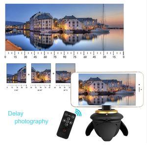 Image 5 - ALLOET חדש מיני Bluetooth מרחוק חשמלי פנורמה ראש 360 סיבוב זמן לשגות חצובה ראש עבור GoPro פעולה מצלמה Selfie מקל