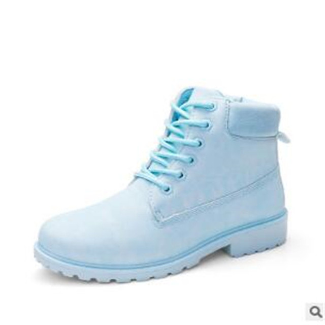 POADISFOO  autumn winter women ankle boots Lace woman snow boots shoes plus size  OutDoor boot military casual shoes  .XZ-07