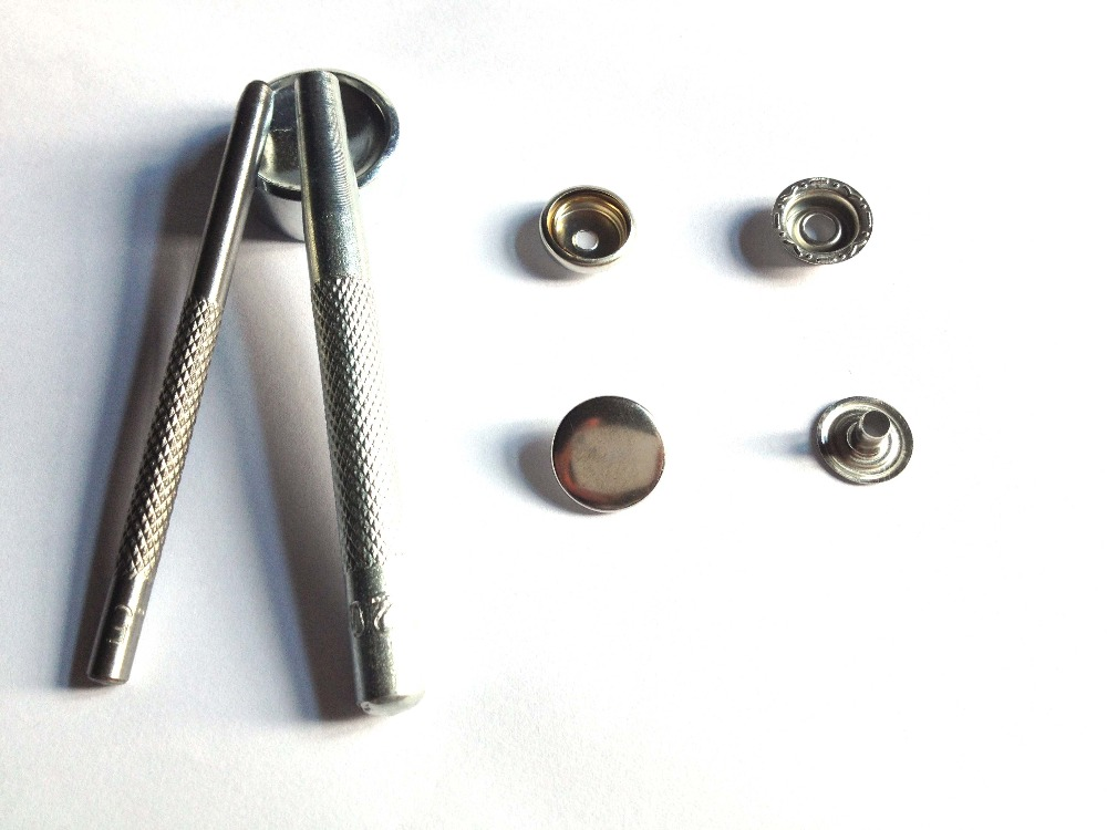 50 Sets Sew On Snaps Buttons Metal Snaps Fasteners Press Craft Accessory 12//15mm