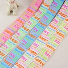 1534111,7/8» 22MM Printed grosgrain ribbon,5 color mix,DIY handmade materials, headwear accessories