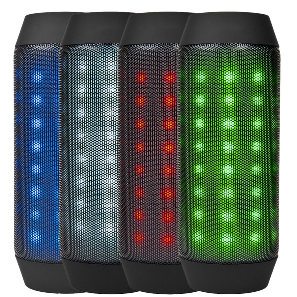 Colorful Waterproof LED Portable Bluetooth Speaker BQ-615 Wireless Super Bass Mini Speaker with FM Flashing lights