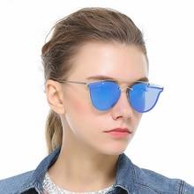 Vebrellen moda cat eye sunglasses mujeres diseñador de la marca de recubrimiento espejo lente plana gafas de sol femeninas gafas de sol oculos vj027