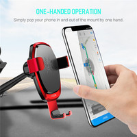Support Smartphone Voiture 10W Fast Qi Wireless Charger Gravity Car Holder Dashboard Stand Charging Mount for iphone for Samsung