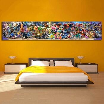 Pintura en lienzo de Super Smash Bros para decoración del hogar, póster para sala, vídeo de juego para pared, 1 Uds.