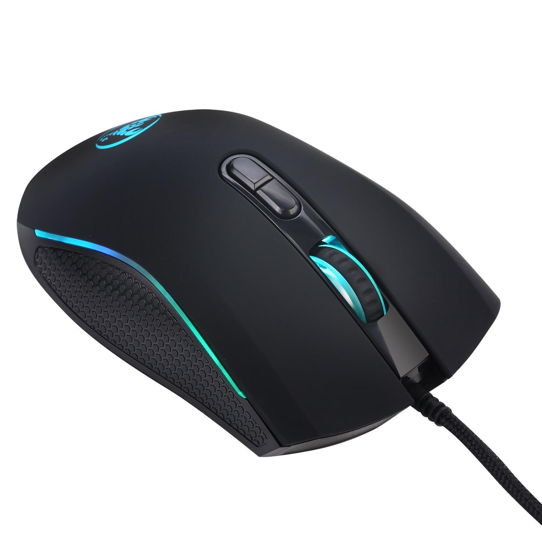 Mouse 7 cores brilhantes LED backlit óptico profissional