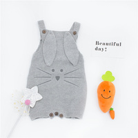 ZTKIDS Baby Boys Knitting Rompers Infant Lovely Bunny Romper Kids Girls Cute Animal Clothing Spring Clothes