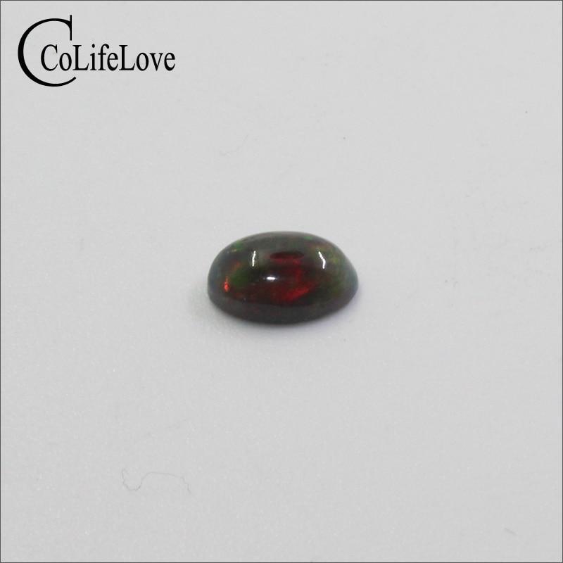 Pedra preciosa preta natural tratada, 5mm *