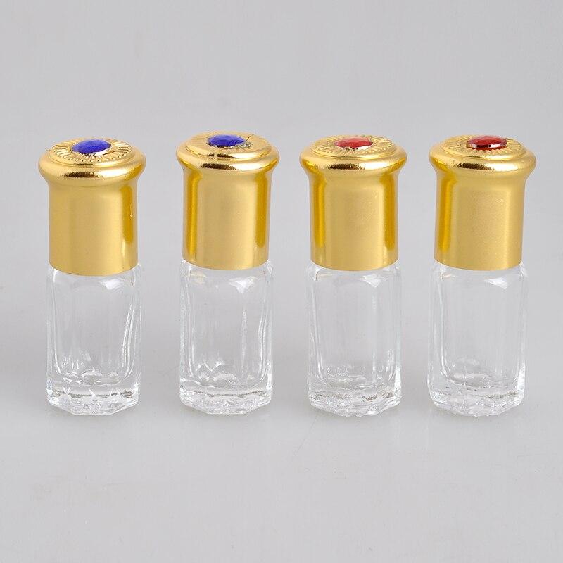100 개/몫 3 ml 스타 아니스 유리 향수 병 에센셜 오일에 대 한 빈 parfum 케이스에 롤-에서리필 병부터 미용 & 건강 의  그룹 1