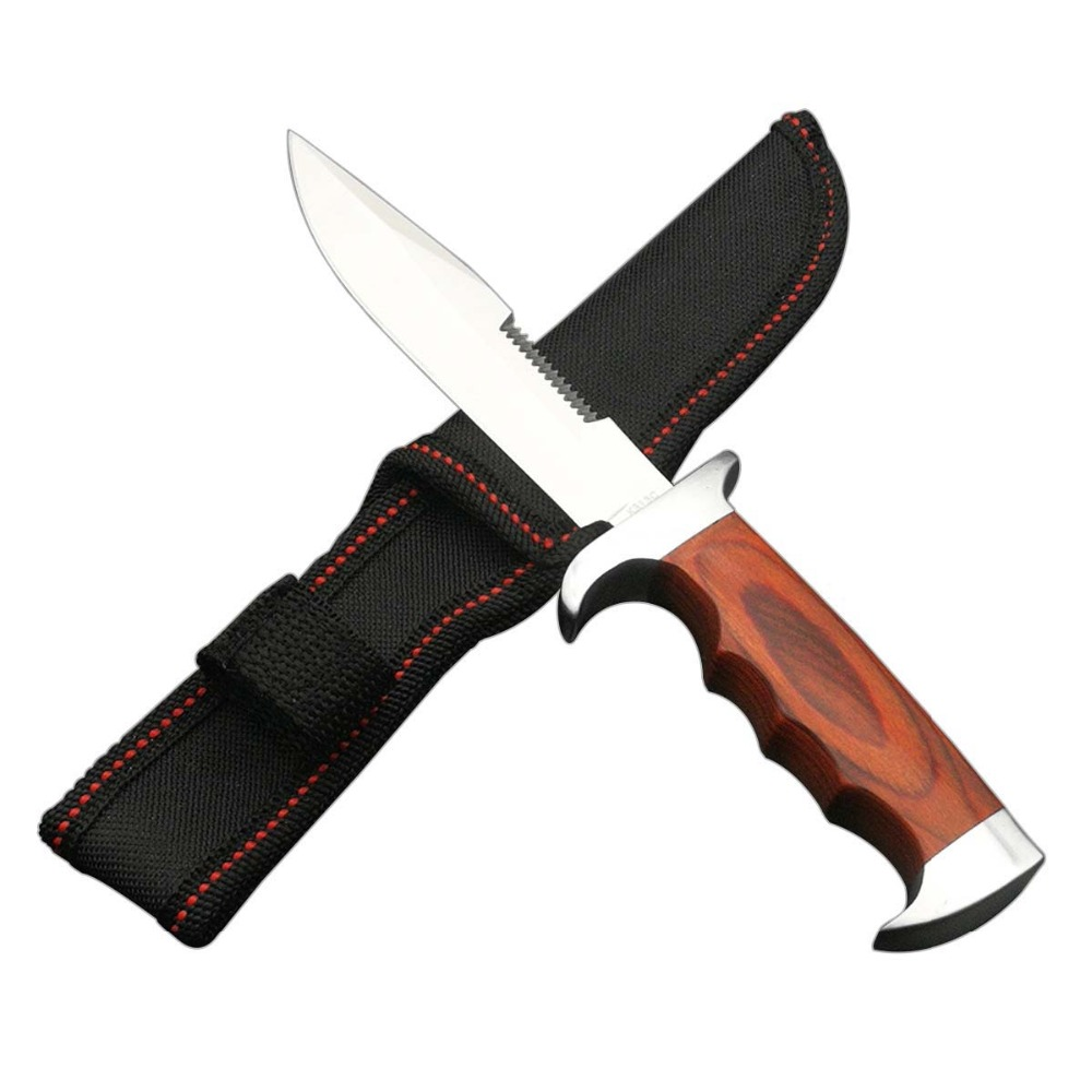 دسته چاقو ثابت فولادی DuoClang 5Cr13 دسته گل - ابزار دست