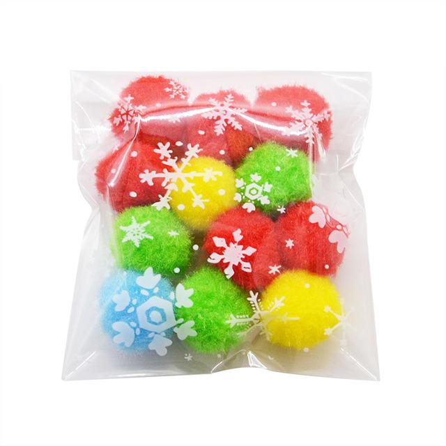 White Snowflake Transparent Cellophane Bag