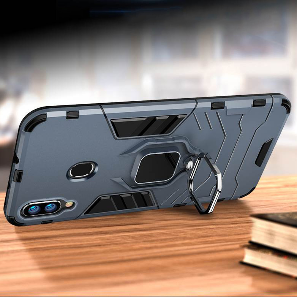 Image 2 - For Samsung Galaxy A40 A30 A20 Case Armor PC Cover Finger Ring Holder Phone Case For Samsung A 40 30 20 Cover Durable Bumper-in Fitted Cases from Cellphones & Telecommunications