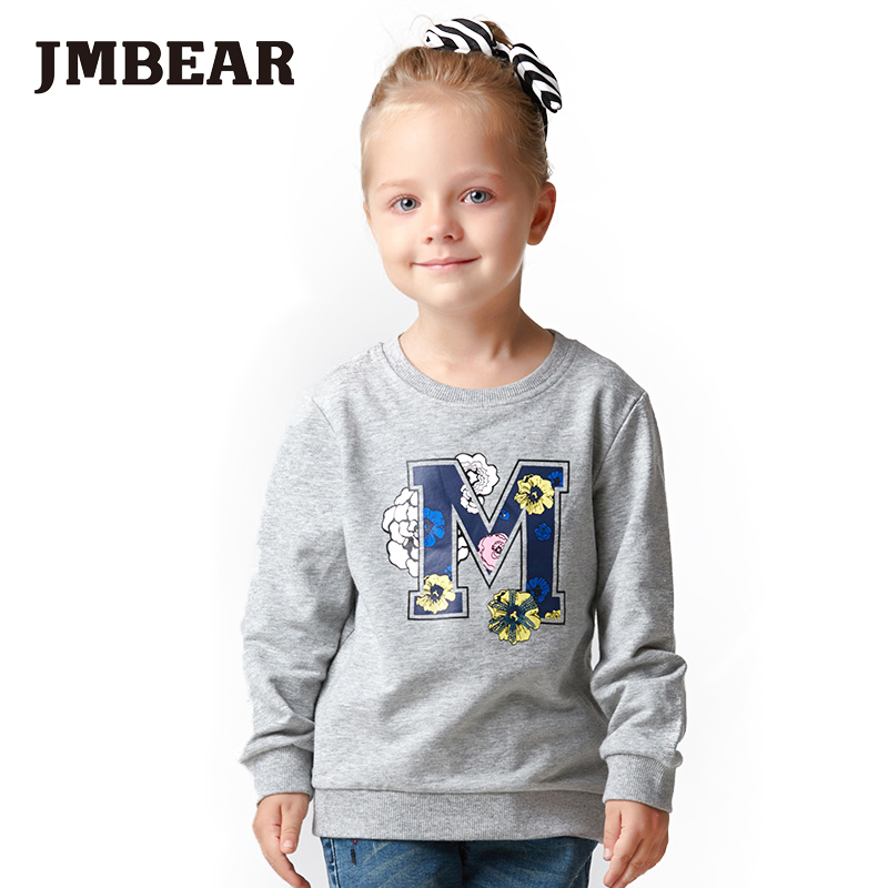 Jmbear girl autumn long sleeve t shirt thick t shirt for for Thick white cotton t shirt