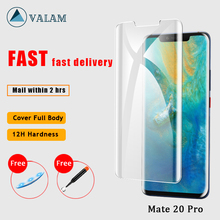 Tempered Glass For Huawei Mate20 Pro screen protector Full Cover Nano Liquid UV  Protector Mate 20 glass