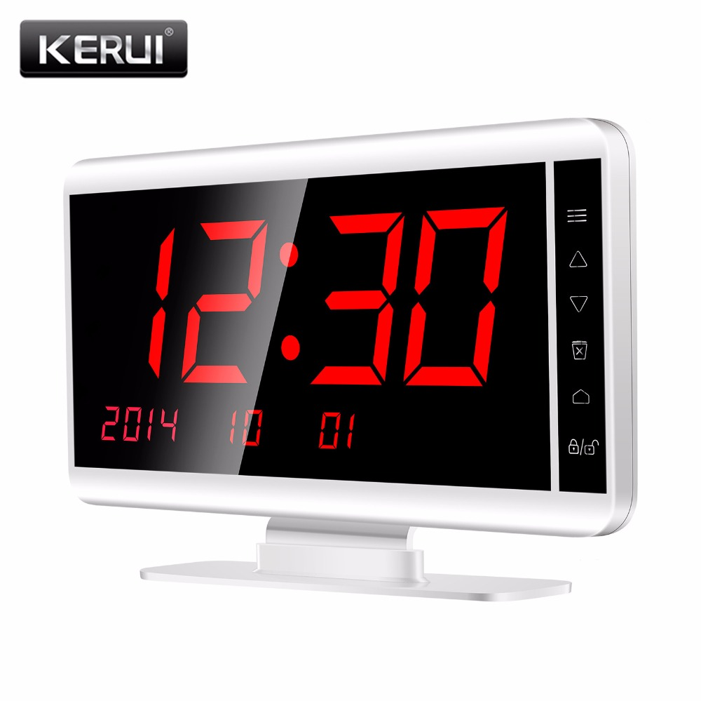 KERUI 2 in 1 PSTN Home Alarm System and Calling System 433MHz Wireless Pagers Calling System Touch Key Receiver for Restaurant singcall wireless calling system patient alarm system emergency sound and light alarm small caregiver receiver with two buttons