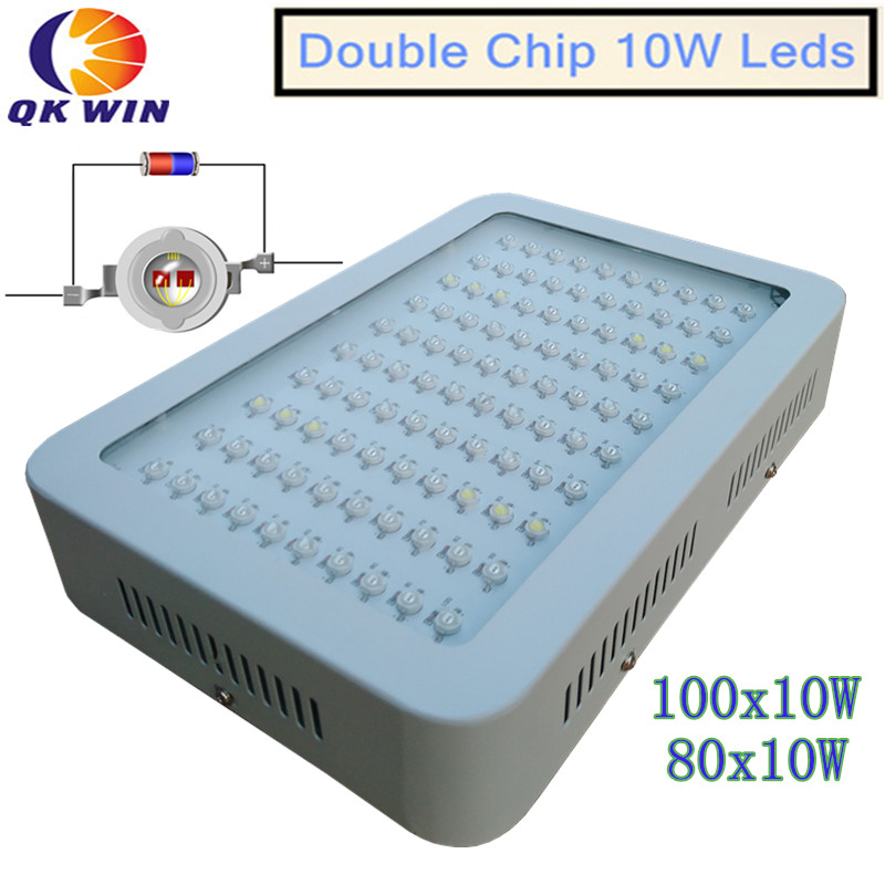 Stock in Russia and France 1000W LED Grow Light 100x10W with double chip 10W chip leds
