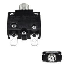 Тепловая защита от перегрузки, кнопочный выключатель, мини Термовыключатель 5A/10A/15A/20A/30A