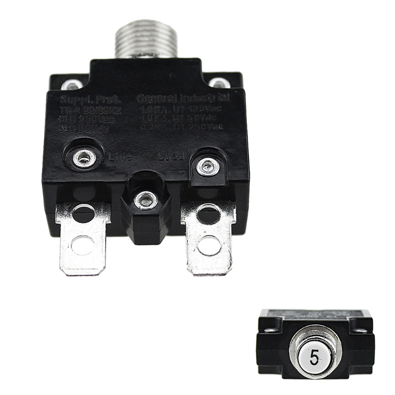 Thermal Overload Protector Push Button Switch Mini Circuit Breaker 5A/10A/15A/20A/30A